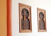 Due finestre in stile arabo bello — Foto Stock