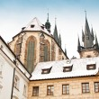 Stock Photo: Famous Church of our lady before Tyn in Prague, Czech Republic