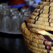 Stock Photo: Wicker ware and other dishes