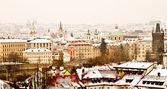 Panorama of Prague with its landmarks — 图库照片