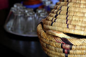 Wicker ware and other dishes — Stock Photo