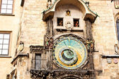 Famous astronomical clock at the Old Town square in Prague, Czec — Stock Photo