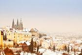 Panorama de praga no inverno — Foto Stock