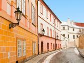 красивая улица в праге, изображения, сделанные в зимний период — Стоковое фото