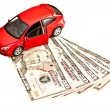 Car, key and money - Stock Photo