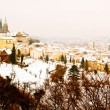 Panorama of Prague in winter — Stock Photo