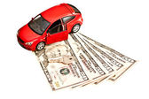 Car, key and money — Stock Photo