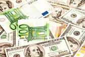 US Dollar and Euro — Stock Photo