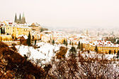 Panorama of Prague in winter — Stock Photo