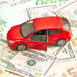 Stock Photo: Car and money. Concept for buying, renting, insurance, fuel, ser