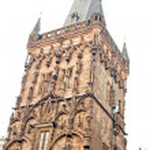 Famous Powder Gate in Prague, Czech Republic — Stock Photo #25552389