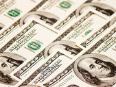 American hundred dollar notes — Stock Photo
