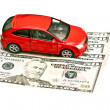 Car, pen and money — Stock Photo #26237527