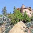 House on the hill in Atlas mountains, Morocco — Stock Photo