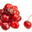 Cherries isolated on white background — Stockfoto
