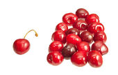 Cherries isolated on white background — Stock Photo