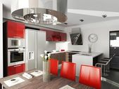 Modern interior design. Kitchen — Stock Photo
