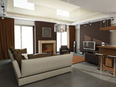 3d render of a modern interior.exclusive design — Stockfoto