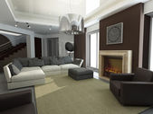 3d render of a modern interior.exclusive design — Photo