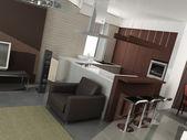 Modern interior design. Kitchen — Stock Photo