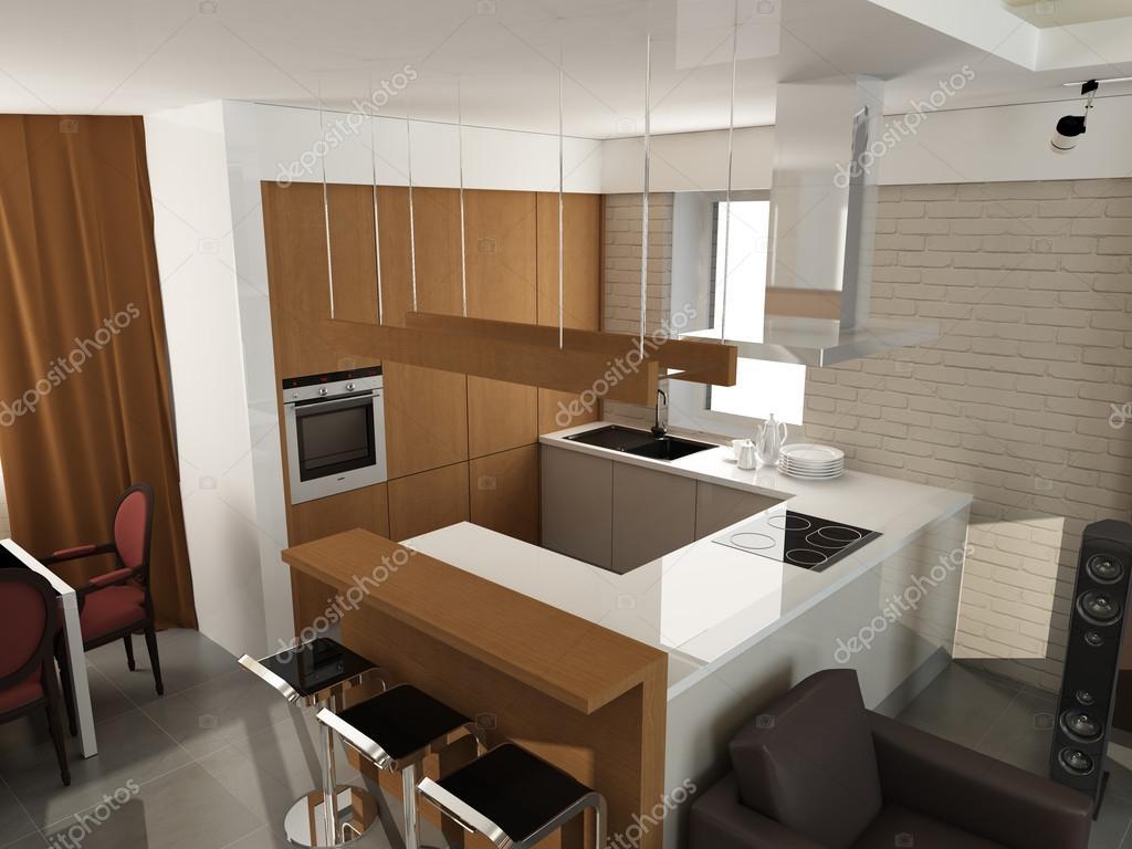 moderne luxus k che und esszimmer interieur stockfoto yu tsai 43769369. Black Bedroom Furniture Sets. Home Design Ideas