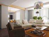 3d render of a modern interior.exclusive design — Stock Photo