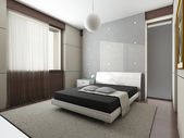 Modern interior. Bedroom. — Photo