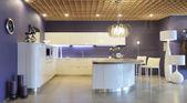 Modern interior. Kitchen — Stock Photo