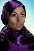 Arabic style portrait of a young beauty — Stock Photo