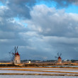 Windmill at Marsala - Stock Photo