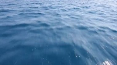 Fast floating above ocean surface — Stock Video
