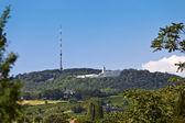 Kahlenberg - bekend voor het beste uitzicht op wenen — Stockfoto