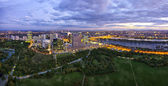 Skyline of Donau City Vienna at dusk — Stock Photo
