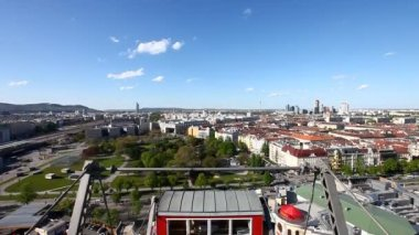Skyline Vienna from the historic Ferris Wheel — Stock Video