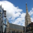 Time lapse of the Vienna Stephansdom — Wideo stockowe