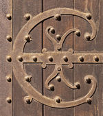 Staré ozdobné kované železné dveře — Stock fotografie