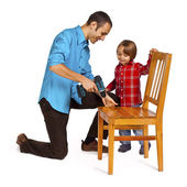Father and son - do it yourself — Stock Photo