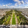 Aerial View on Champ de Mars, Paris — Stock Photo