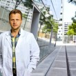 Confident and smart scientist or doctor — Stock Photo