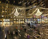 The Graben of Vienna on evening during Christmas season — Stock Photo