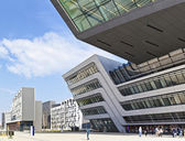 The new building of the public University of Economics of Vienn — Stock Photo