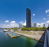 Danube City Vienna with the brand new DC-Tower — Stock Photo