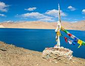 String of prayer flag — Stock Photo