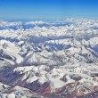 Areal view of himalayan snow fields — Stock Photo