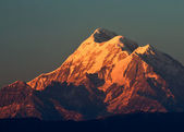 Three close mountain peak — Foto Stock