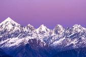 Gün batımında beş dağ zirveleri tepe — Stok fotoğraf