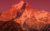 "Sunset at ""Dhoona giri"" peak — Foto Stock"