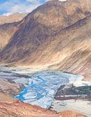 Meandering river — Stock Photo