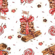 Cinnamon and cookies for Santa - Foto Stock