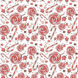 Stock Photo: Candy. Watercolor pattern